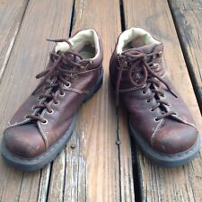 Dr Martens Docs Brown Boots Leather Shoes Mens 10 Womens 11 EUR 43 11528 6 Eye