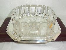 Große Kristallschale,Obstschale,Zierschale auf versibertem Tablett