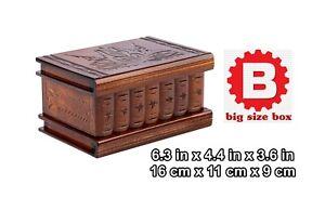 Wood Magic Secret Puzzle Box, Brain Teaser Big, Secret lock, Smart trick IQ test