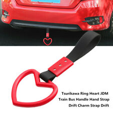 Car PVC Tsurikawa Ring Heart JDM Bus Handle Hand Strap Drift Charm Strap Drift