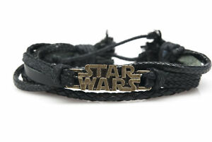 Star Wars Fashion Style Jewelry Cute Leather Charm Bracelet Bangle DIM182