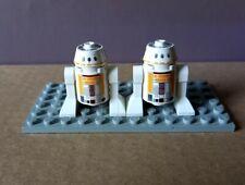 Round 2 x 2 Truncated Cone with SW R5-F7 Pattern Star Wars LEGO x 4 White Brick