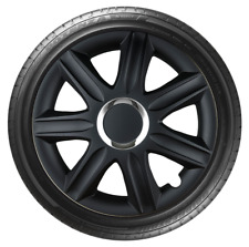 14 Inch Wheel Trim Set Black Set of 4 Universal Hub Caps Covers [SAMO BL]