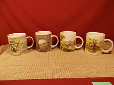 Gibson Dinnerware John Deere Nostalgic Set of 4 Mugs 3 3/4""