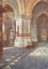 BELGIUM. Interior of Church, Nieuwpoort 1908 old antique vintage print picture