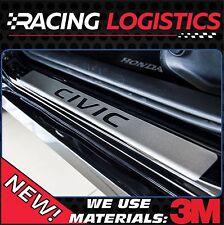 HONDA CIVIC MK 10 X DOOR SILL BRUSHED ALUMINIUM LX EX EX-T EX-L TOURING VTEC CVT