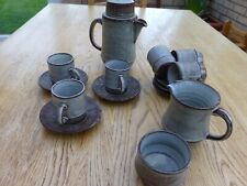 Made In Wales, pottery coffee set for 6,