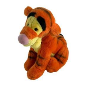 """Tigger Winnie the Pooh Plush 11"""" Tall Sitting Stuffed Animal Curled Tail Tiger"""