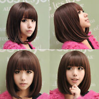 Fashion Short Straight Bob Hair Full Wigs Women Lady Cosplay Party Wig Pop*
