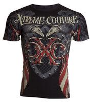 Xtreme Couture AFFLICTION Men T-Shirt ROCKET Flag Tattoo Biker USA M-4XL $40