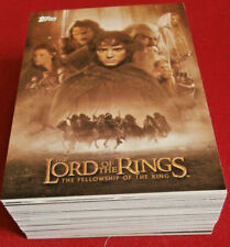 LOTR - FELLOWSHIP OF THE RING - COMPLETE UPDATE BASE SET (72 cards) Topps 2002