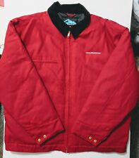 TriMountain Mens Red Halliburton Coat Jacket Quilted Lining 2XL XXL Oil Patch