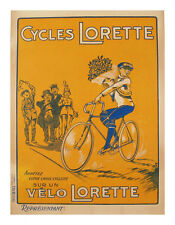 Cycles Lorette - Original Vintage Bicycle Poster - Cycling
