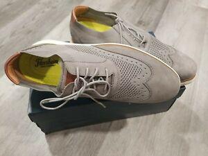 Florsheim Fuel Knit Plain Toe Oxford Men's Dress Casual Shoe Light Gray Size 9.5