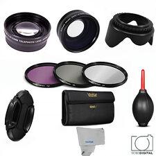 58MM Wide Angle Lens & Telephoto + Filter Kit for Canon Rebel T5i T4i T3i T2i