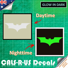 BATMAN KNIGHT SYMBOL Green Glow in the Dark Vinyl Sticker Car Motorcycle