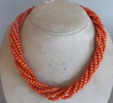 Wunderschöne Kette, Koralle, 6 Stränge, Durchmesser 3-5 mm, 47 cm lang, Coral,