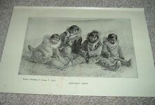 1919 ESQUIMAU ESKIMO BOYS from drawing by George T Tobin Print