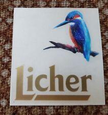 Licher Bier Aufkleber Label Logo beer Brauerei Eisvogel Ihring Melchior LichNEU