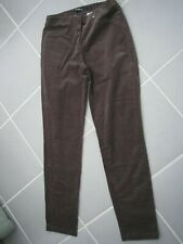 ROBELL TAUPE COTTON ELASTANE CORD PULL ON JEGGINGS  STRAIGHT LEG EX.COND UK 8-10