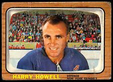 1966 67 TOPPS HOCKEY #91 HARRY HOWELL VG NEW YORK N Y RANGERS FREE SHIP USA