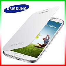 2x Pellicola+Custodia originale Samsung p Galaxy S4 SIV i9505 Flip Bianca Cover