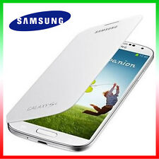 Pellicola+Custodia originale Samsung per Galaxy S4 SIV i9505 Flip Bianca Cover