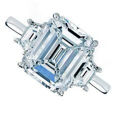2.43ct Emerald Cut Three-Stone Diamond Engagement Ring