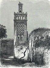 Antique print Mosque Negrier Tlemcen Algeria moskee
