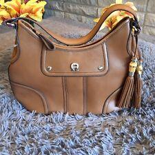 Etienne Aigner 100% Genuine Leather Honey Scottsdale Collection Purse