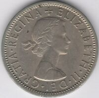 1956 Elizabeth II Two Shillings | British Coins | Pennies2Pounds