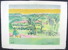 Signed JACQUES VILLON 1960 Duchamp Cubist Abstract Lithograph Pastorale Limited