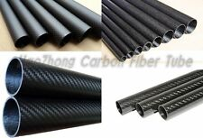 3k Carbon Fiber Tube 4mm5mm 6mm 7mm 8mm 9mm 10mm (Roll Wrapped) X 500mm 1pc-10pc