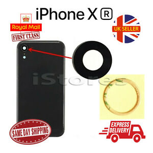 New iPhone XR Replacement Rear Back GLASS Camera Lens Cover with Adhesive