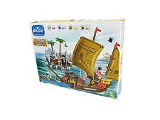 Pricò Costruzioni Nave Pirati, 502 Pezzi + 4 Personaggi, 5+, Compatibile Lego