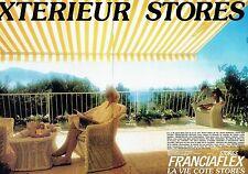 PUBLICITE ADVERTISING 126  1979   stores extérieurs  (2p) Franciaflex
