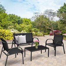 4 tlg Gartengarnitur Sitzgruppe Gartenmöbel Lounge Set Gartenset Balkon Terrasse