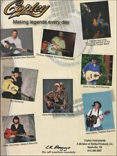 Jason Aldean Craig Morgan George McCorkle play Copley Guitars 8 x 11 ad print