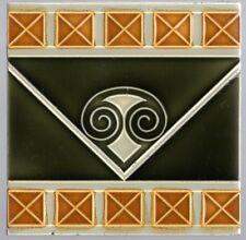 Germany Art Nouveau Majolica Jugendstil Boizenburg Original period antique tile