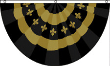 3x5 New Orleans Mardigras Mardi Gras Bunting 3x5 Flag House black and gold fan
