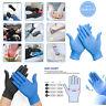 100× Nitrile Disposable Gloves Powder Latex Free Medical Food Healthcare Vinyl