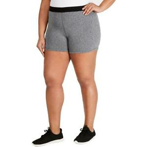 Soffe Womens Gray Plus Fitness Workout Shorts Athletic Juniors 3X BHFO 5127