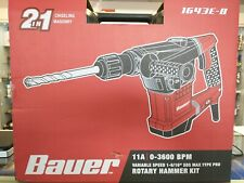 Bauer 1643e B Variable Speed 1 916 Sds Max Corded Rotary Hammer Drill Kit New