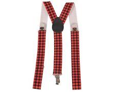 "Diamond Checkerboard Adjustable Straps Suspenders (40"" Length - 3.5 CM Wide)"
