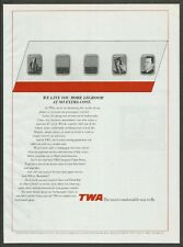 TWA Trans World Airlines - More legroom - 1993 Print Ad