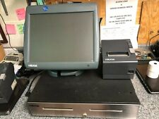3 Micros Pos Touch Workstations Ws5A w/ Stands, Printers, 1 Cash Drawer, Server