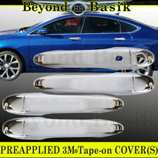 For 2015 2016 2017 Chrysler 200 Chrome Door Handle COVERS W/ONE Smart KeyHole