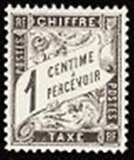 "FRANCE STAMP TIMBRE TAXE N° 10 "" TYPE DUVAL 1c NOIR "" NEUF x TB"