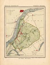 ANTIQUE MAP-NETHERLANDS-DREUMEL-GELDERLAND-KUYPER-1865