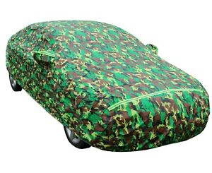 Camo Car Cover for Nissan Versa Waterproof All Weather Protection
